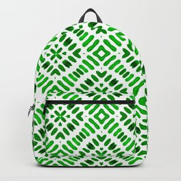Shibori Watercolour no.7 Green Backpack