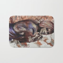 Lara ink by carographic, Carolyn Mielke Bath Mat