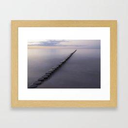 Breakwater Framed Art Print