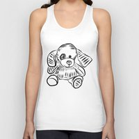 puppy Tank Tops featuring Puppy by Omar Sangiovanni