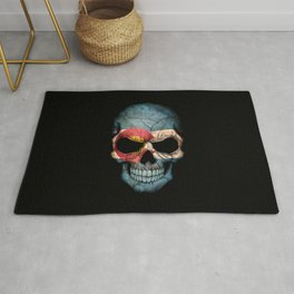Dark Skull with Flag of Colorado Rug