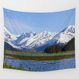 Alaska Mt Range - Spring Wall Tapestry