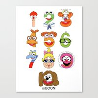 muppet Canvas Prints featuring Muppet Babies Numbers by Mike Boon