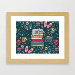 How to Hygge Like a Cat Framed Art Print