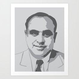 """Al """"Scarface"""" Capone Graphic Art Print"""