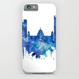 Kolkata West Bengal Skyline Blue iPhone Case