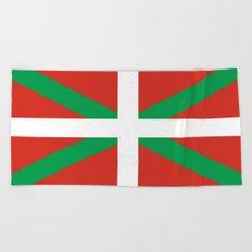 Flag of Euskal Herria-Basque,Pays basque,Vasconia,pais vasco,Bayonne,Dax,Navarre,Bilbao,Pelote,spain Beach Towel
