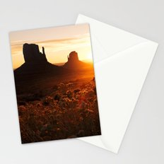 Sunrise in Monument Valley Stationery Cards
