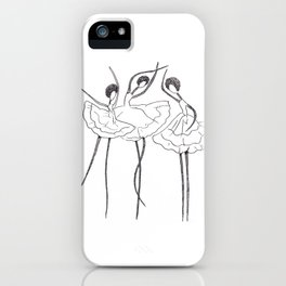 Ink and Ballet 3 iPhone Case