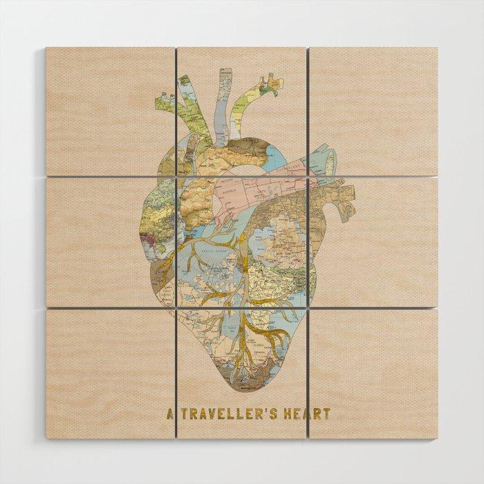 A Traveller S Heart Uk Wood Wall Art By Beegreen