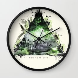 The Essence of New York City Wall Clock