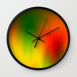 Rasta Splash Wall Clock