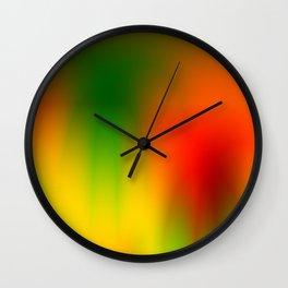 Rasta Splash Wall Clock