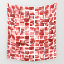 Red Parquet Wall Tapestry