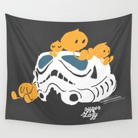 storm trooper Wall Tapestries featuring Let's play storm trooper by inkdesigner
