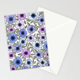 Poppy Purples Stationery Cards