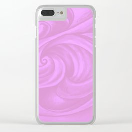 neon pink II Clear iPhone Case