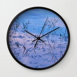 Reflections on the lake surface #society6 #decor #buyart Wall Clock
