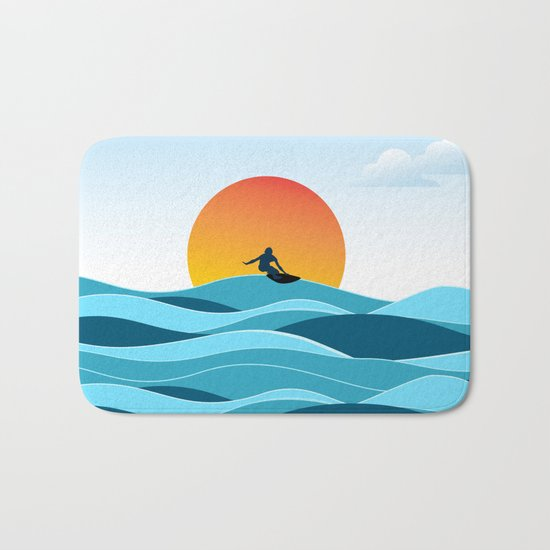Surfing 1 Bath Mat