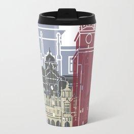 Krakow skyline poster Travel Mug