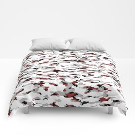 Camouflage: Red IV Comforters