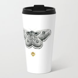 Perseverance - Moth Graphite Drawing by Brooke Figer Travel Mug