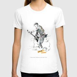 a vampire guitarist T-shirt
