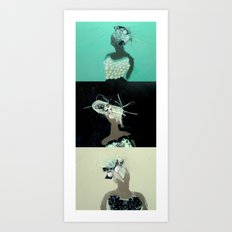 Mirrored Trio Art Print