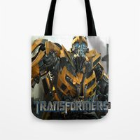 transformers Tote Bags featuring transformers by store2u