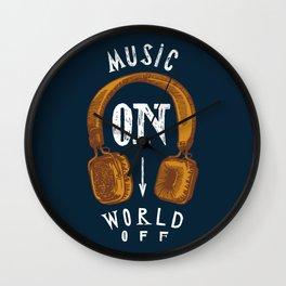Music On - World Off Wall Clock