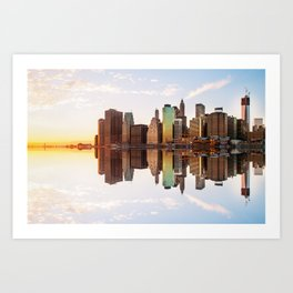 Reflection of Manhattan Art Print