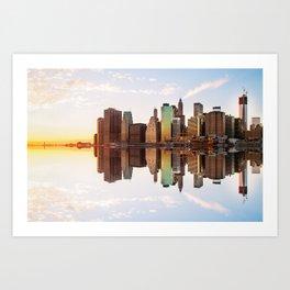 Reflection of Manhattan Art Print
