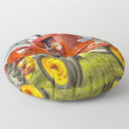 Red Tractor Floor Pillow