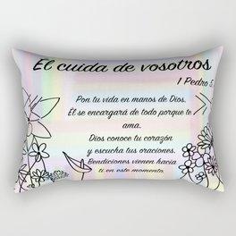 Flores - 1 Pedro 5, 7 Rectangular Pillow