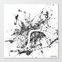 london map Canvas Prints featuring London map by Nicksman