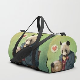 Wise Panda: Love Makes the World Go Around! Duffle Bag