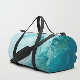 Pacific big surfing wave breaking Duffle Bag