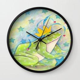 Whimiscal Bull Frog Wall Clock