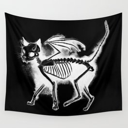 Devil Kitty - inverted Wall Tapestry