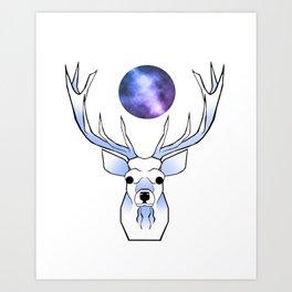 Galaxy Deer Art Print