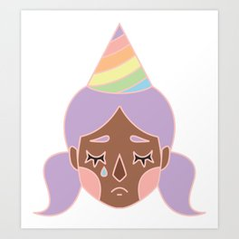 Purple Pity Party Art Print