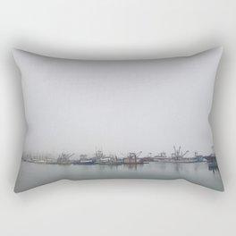 Moored in the Mist Rectangular Pillow