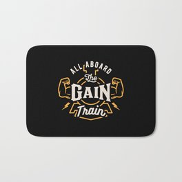All Aboard The Gain Train Bath Mat