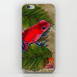 DW-002 Floating Frog iPhone Skin