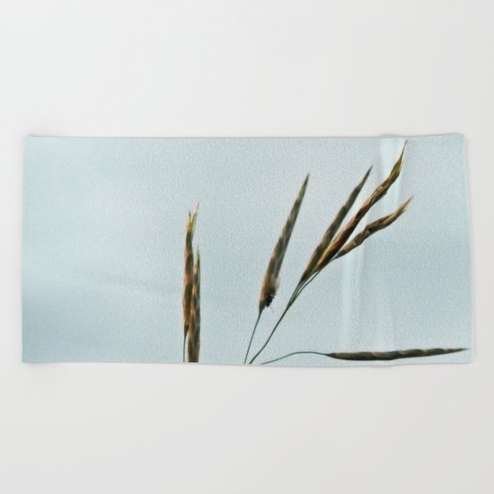 Beachgrass Seed Beach Towel