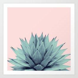 Agave Blush Summer Vibes #1 #tropical #decor #art #society6 Art Print