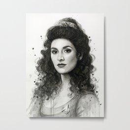 Deanna Troi Metal Print