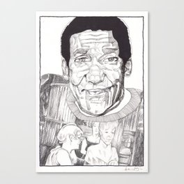Bill Cosby in a Toulouse Lautrec Sweater by Aaron Bir Canvas Print