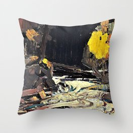 Tom Thomson - A Rapid - Digital Remastered Edition Throw Pillow
