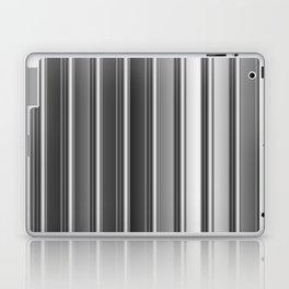 Aluminum silver stripe texture Laptop & iPad Skin